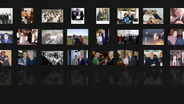Images of photos with Senator Kennedy submitted through the site
